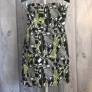 BANANA REPUBLIC 4 Linen Safari Strapless Dress